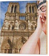 An American In Paris Notre Dame Wood Print