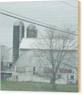 An Amish Barn In April Wood Print