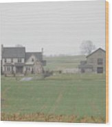 An Amish Family Home Wood Print