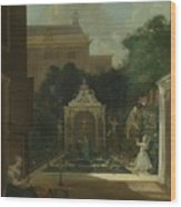An Amsterdam Canal House Garden, 1745 Wood Print