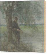 An Angler Wood Print