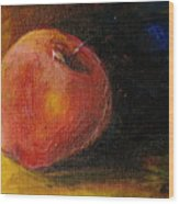 An Apple - A Solitude Wood Print