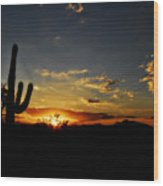 An Arizona Sunrise  Wood Print