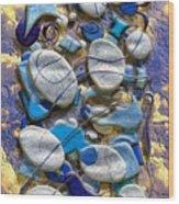 An Arrangement Of Stones Wood Print