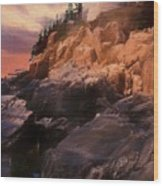 An Art Photograph Of  Bass Harbor Lighthouse,acadia Nat. Park Ma Wood Print