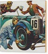 An Aston Martin Racing Car, Vintage 1932 Wood Print
