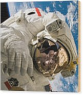 An Astronaut Mission Specialist Wood Print