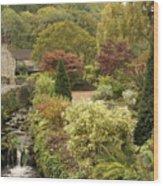 An Autumn Garden  Wood Print