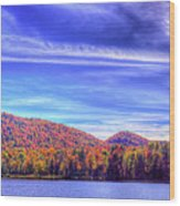 An Autumn Panorama Wood Print