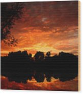 An Awesome Sunset  Wood Print