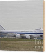 An E-4 Advanced Airborne Command Post Wood Print