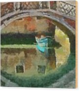 An Early Morning In Venice Wood Print