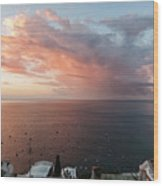 An Early Morning View From A Balcony In Positano, Campania, Ital Wood Print