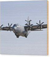 An Ec-130j Commando Solo Aircraft Wood Print by Stocktrek Images