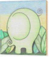 An Elephant For Erin Wood Print