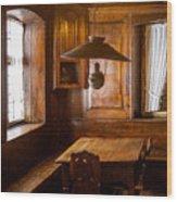 An Empty Table Wood Print