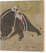 An Enraged Elephant Wood Print
