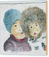 An Eskimo Mother And Child Wood Print