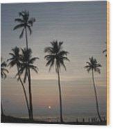 An Evening At The Beach-1 Wood Print
