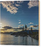 An Evening At The Lake Wood Print