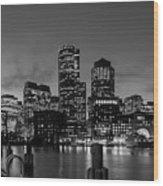 An Evening In Boston Wood Print