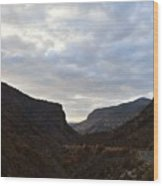 An Evening View Through A Valley In The Southwest Foothills Of The Sierra Nevadas Wood Print