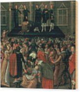 An Eyewitness Representation Of The Execution Of King Charles I Wood Print