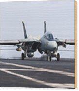 An F-14d Tomcat Makes An Arrested Wood Print