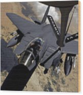 An F-15 Strike Eagle Prepares Wood Print by Stocktrek Images