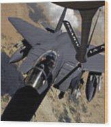 An F-15 Strike Eagle Prepares Wood Print
