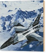 An F-15c Falcon From The 18th Aggressor Wood Print