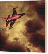 An F-16 Flies Through Hell Wood Print