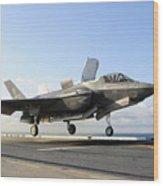 An F-35b Lightning II Lifts Wood Print