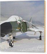 An F-4d Phantom II Aircraft Static Wood Print