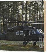An Hh-60 Pave Hawk Evacuates Injured Wood Print