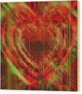 An Inimitable Heart Wood Print