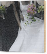 An Intimate Moment At The Wedding Wood Print