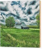 An Iowa Farm Wood Print