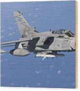 An Italian Air Force Tornado Ids Armed Wood Print