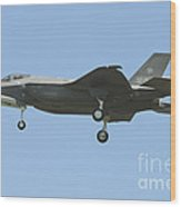 An Italian F-35a Aircraft Wood Print