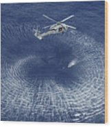 An Mh-60s Knight Hawk Prepares Wood Print by Stocktrek Images