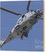 An Nh90 Helicopter Of The French Navy Wood Print