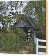 An Old Barn Wood Print