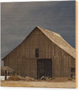 An Old Barn In Rural California Wood Print