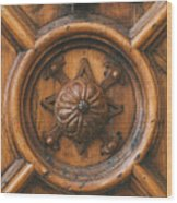 An Old Carved Wooden Door Wood Print