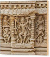 An Old Carving Of Shiva At Abhaneri Wood Print