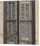 An Old Door In Neve Tzedek Tel Aviv Wood Print