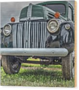 An Old Green Ford Truck Wood Print