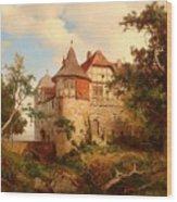 An Old Hunting Lodge Wood Print
