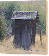 An Old Outhouse  Wood Print